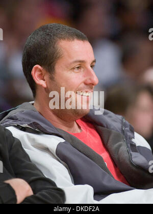 Jan 05, 2007; Los Angeles, CA, USA; Actor ADAM SANDLER sits courtside as the Los Angeles Lakers against the Denver - Stock Photo