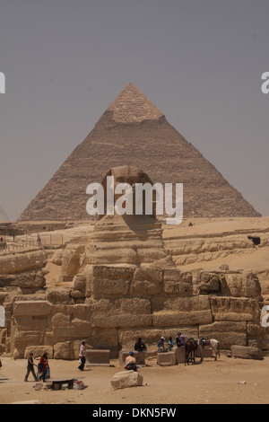 The Great sphinx @Giza - Egypt / East of the Great pyramid . - Stock Photo