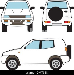 Car - Small Suv, Vector Shapes - Stock Photo