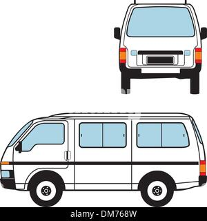 Minivan Car, Vector Shapes - Stock Photo