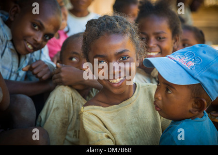 Children in Vatomandry District, Madagascar - Stock Photo