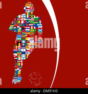 Soccer Player in Global Soccer Event. EPS 8 - Stockfoto