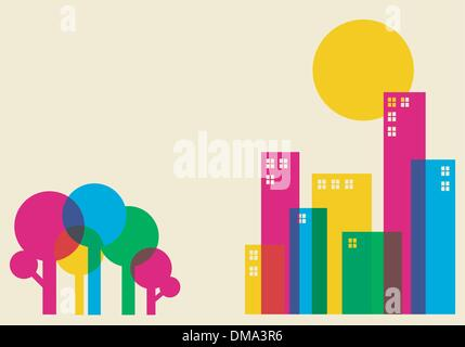 Spring time city - Stock Photo