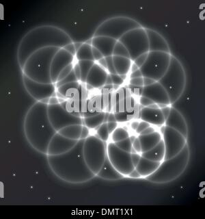 Shiny circles on an abstract background - Stock Photo