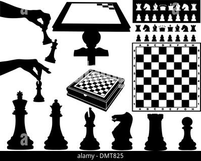 Illustration of chess pieces - Stock Photo