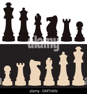 vector chess pieces - Stock Photo