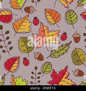 Autumn seamless texture - Stock Photo