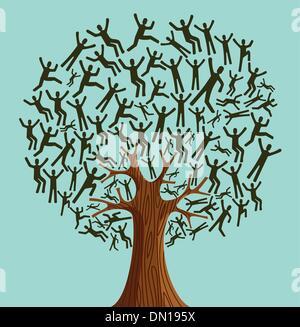 Isolated Diversity Tree people - Stock Photo