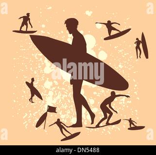 pacific surfer vector graphic design - Stock Photo
