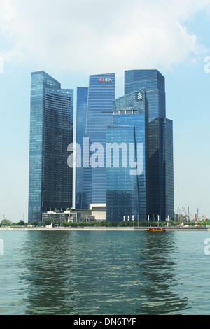 Marina Bay Financial Center. Singapore. - Stock Photo