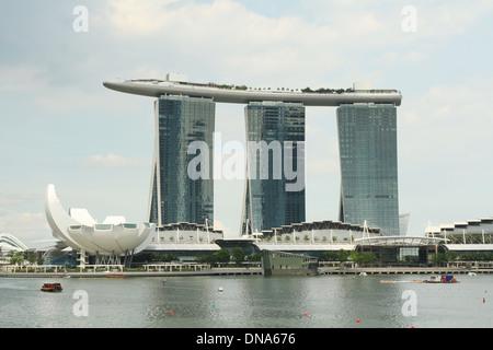 Marina Bay Sands Hotel. Singapore. - Stock Photo