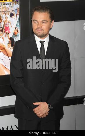New York, NY, USA. 17th Dec, 2013. Leonardo DiCaprio at the 'The Wolf of Wall Street' New York City Premiere. © - Stock Photo