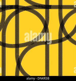 Seamless wallpaper winter tire tracks pattern illustration vector background - Stock Photo
