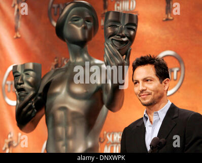 Jan 05, 2006; Los Angeles, CA, USA; Actor BENJAMIN BRATT announces the nominees for the 12th Annual Screen Actors - Stock Photo