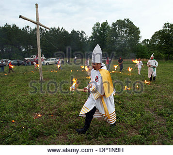 May 06, 2006; Red Bay, AL, USA; American White Knights of the Ku Klux Klan Imperial Wizard J.J. Harper participates - Stock Photo