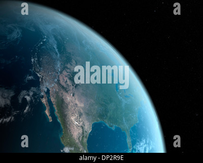 Earth from space, artwork - Stock Photo