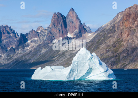 Iceberg in the Prince Christian Sound, Greenland - Stock Photo