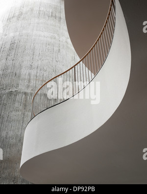 SEB Headquarters balcony interior, Copenhagen, Denmark - Stock Photo