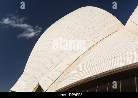 Architectural detail of the modern roof architecture of the Sydney Opera House, Australia - Stock Photo