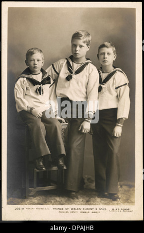 Princes Henry, Edward and Albert of Wales - Stock Photo