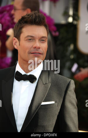 Los Angeles, USA. 11th Jan, 2014. US actor Ryan Seacrest attends the 71st Annual Golden Globe Awards aka Golden - Stock Photo