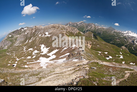 the view from the Edelweisspitze - Alps - Austria - Stock Photo