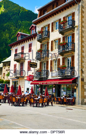 hotel le chamonix in Rue de l'Hôtel de Ville france - Stock Photo