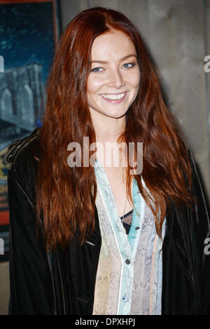 London, UK. 16th January 2014.  Clara Paget arrives at the Brooklyn Bowl - launch party at Brooklyn Bowl, The O2, - Stock Photo