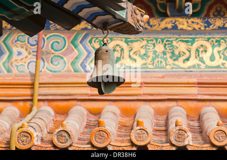 wind bell in Yonghe Temple also known as Yonghe Lamasery or simply Lama Temple in Beijing, China - Stock Photo