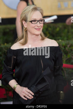 Los Angeles, USA. 19th Jan, 2014. Actress Meryl Streep attends the 20th annual Screen Actors Guild (SAG) Awards - Stock Photo