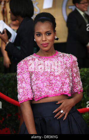 Los Angeles, USA. 18th Jan, 2014. Actress Kerry Washington attends the 20th annual Screen Actor's Guild Awards aka - Stock Photo