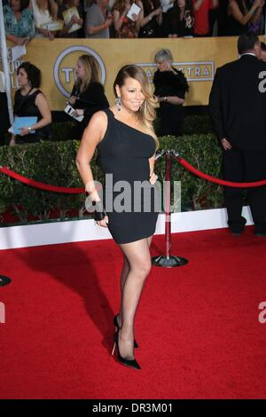 Los Angeles, USA. 18th Jan, 2014. Singer Mariah Carey attends the 20th annual Screen Actor's Guild Awards aka SAG - Stock Photo