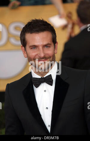 Los Angeles, USA. 18th Jan, 2014. Actor Bradley Cooper attends the 20th annual Screen Actor's Guild Awards aka SAG - Stock Photo