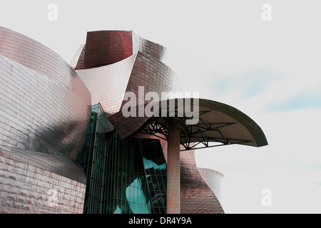 BILBAO, SPAIN - JANUARY 17: The Guggenheim Bilbao Museum shows an exposition about the sculptures of Antoni T - Stock Photo