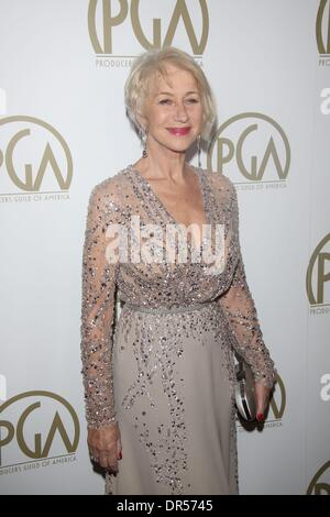 LA, CA, USA . 19th Jan, 2014. British actress Helen Mirren attends the 25th annual Producers Guild of America Awards - Stock Photo