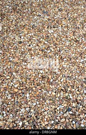 A close up shot of gravel rocks - Stock Photo