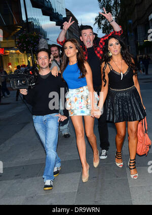 Carol anthony the cast of tv3 39 s celebrity salon arrive at for A david anthony salon