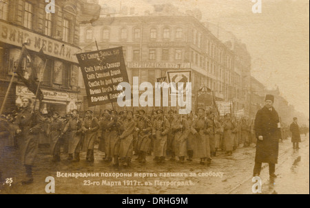 February Revolution - Petrograd, Russia - Stock Photo