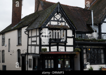 17th Century Public House in Upton upon Severn , Worcestershire, uk - Stockfoto