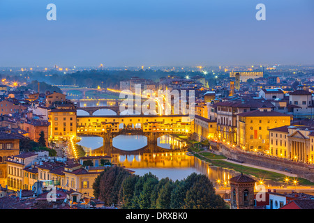 View on Arno river in Florence - Stock Photo