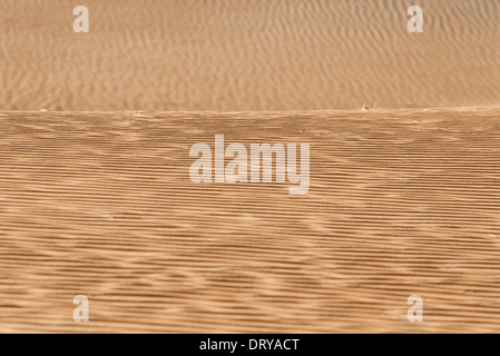 Rippled sand in desert, full frame - Stock Photo