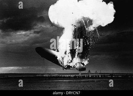 Hindenburg disaster - Stock Photo