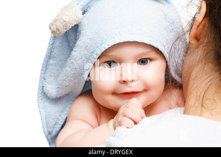 Mother holding baby - Stock Photo