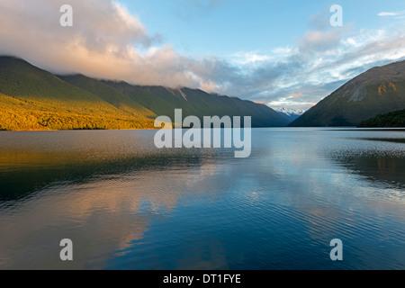 Lake Rotoiti, Nelson Lakes National Park, South Island, New Zealand, Pacific - Stock Photo