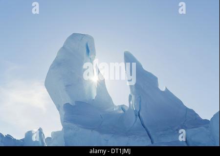 Iceberg along the Antarctic Peninsula near Snow Hill Island in the Weddell Sea - Stock Photo