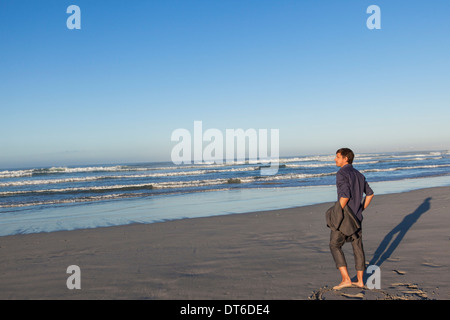 Man enjoying beach - Stock Photo