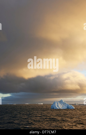 Icebergs at sunrise in the Weddell Sea Antarctica Weddell Sea Antarctica - Stock Photo