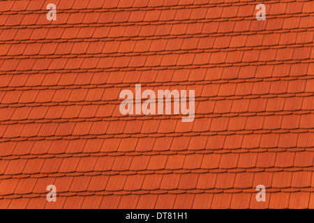 Red tiles roof, architecture background. - Stock Photo