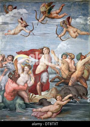Triumph of Galatea, c. 1512. Artist: Raphael (1483-1520) - Stock Photo