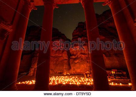 The Treasury At Night - Stockfoto